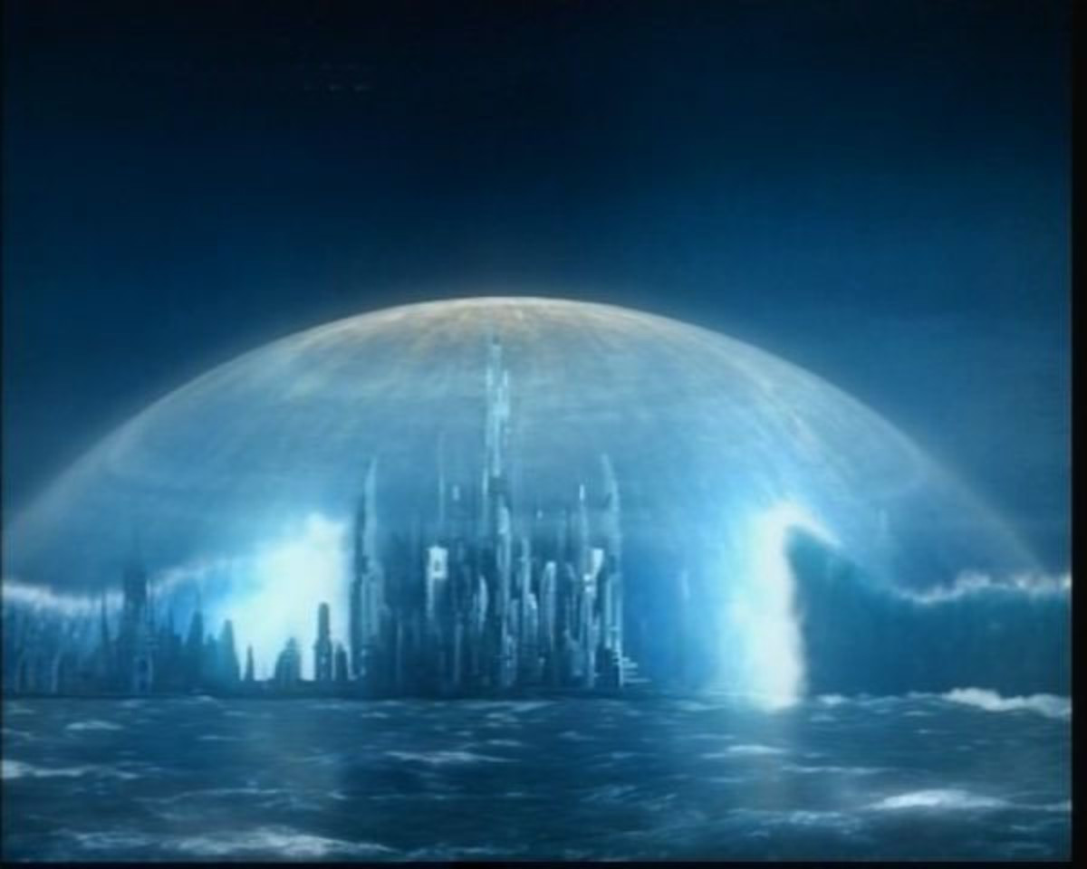 From the TV series Stargate: Atlantis, the title city
