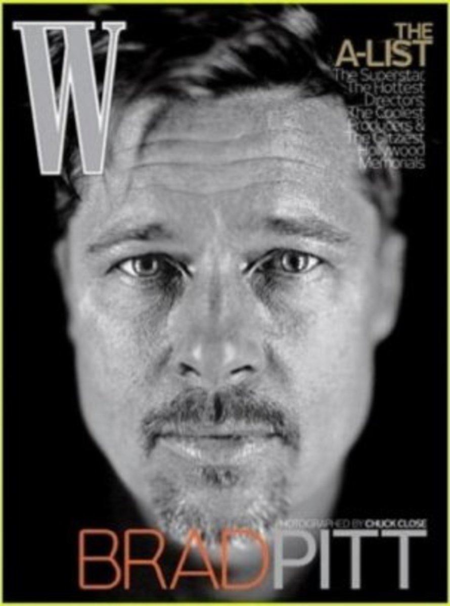 Brad Pitt wrinkles and all!
