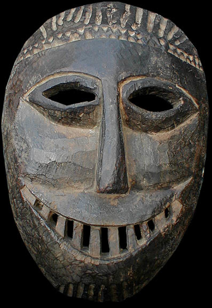 Wooden Mask of early 20th Century,  Size-7.5 inch by 11 inch