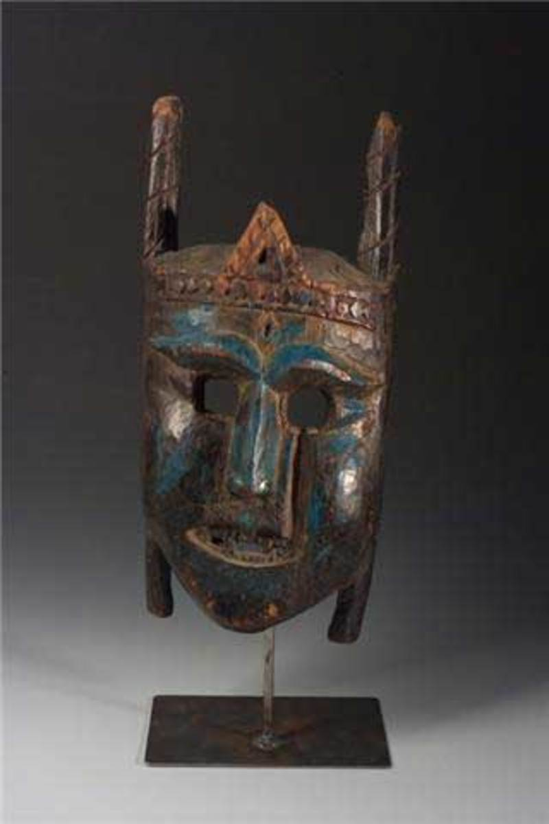 Ritual mask of 19th century in Himachal Pradesh