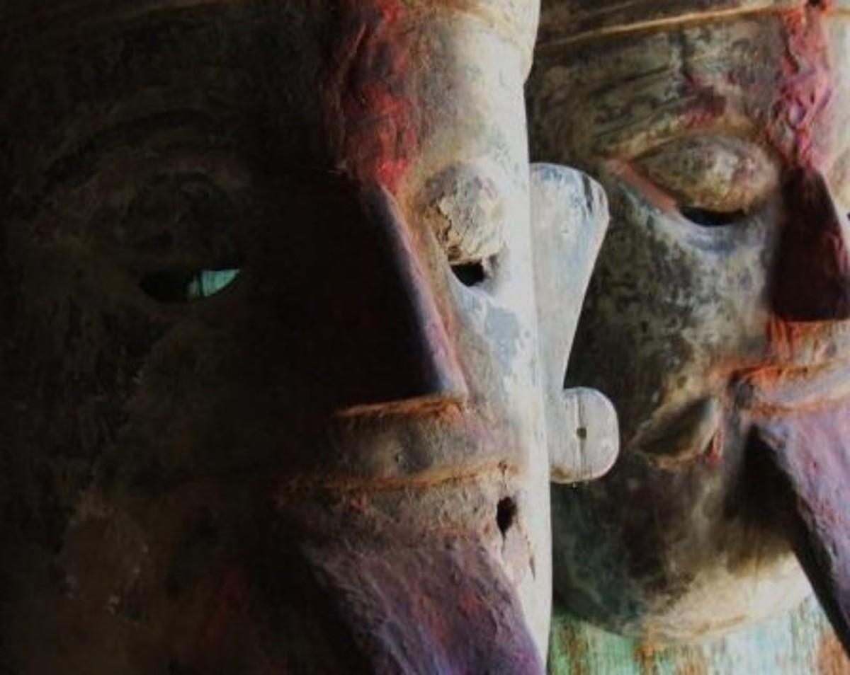 Goddesses Durga and Kali mask
