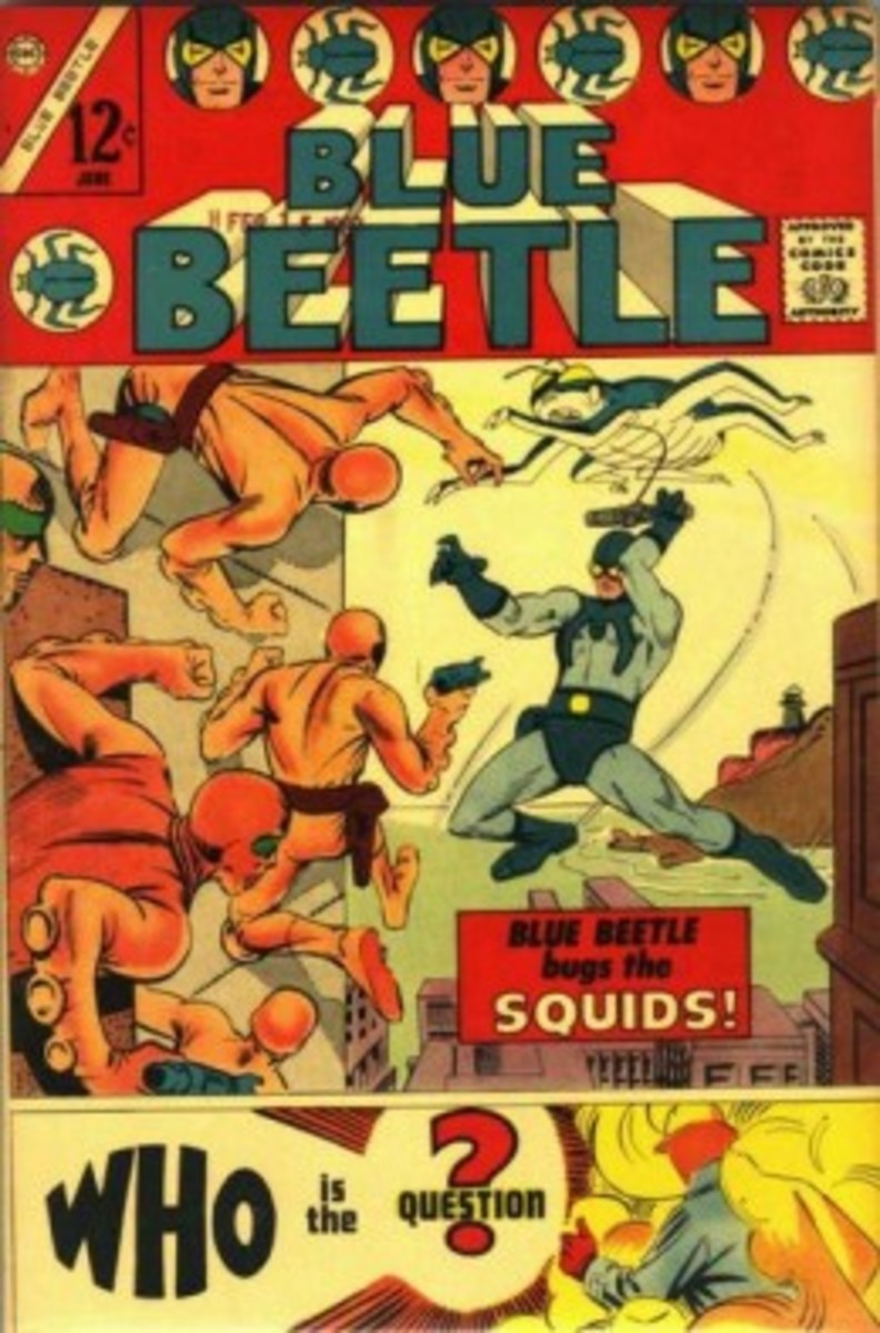 Blue Beetle #1, by Steve Ditko.