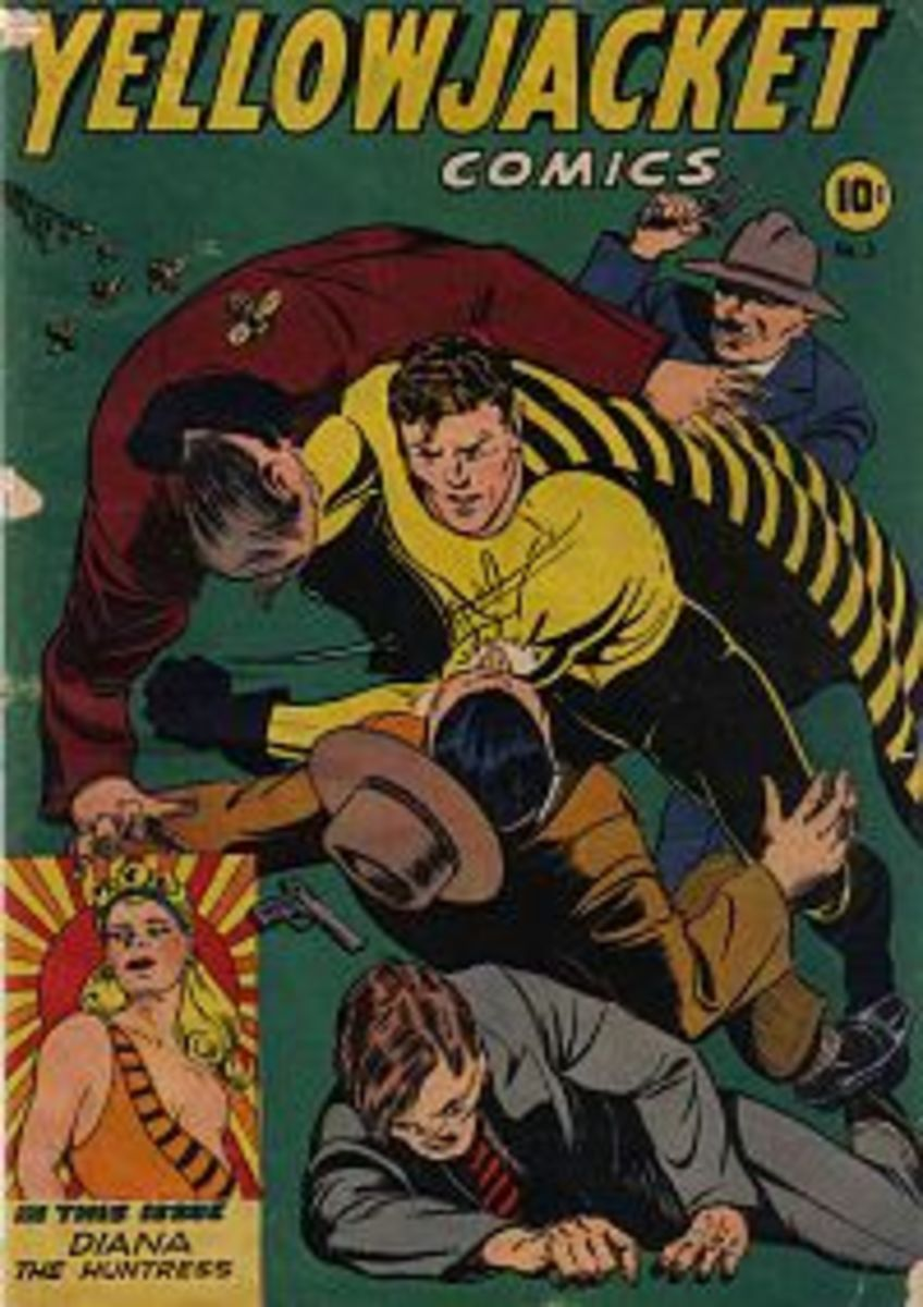 Yellowjacket #1, the first Charlton comic.