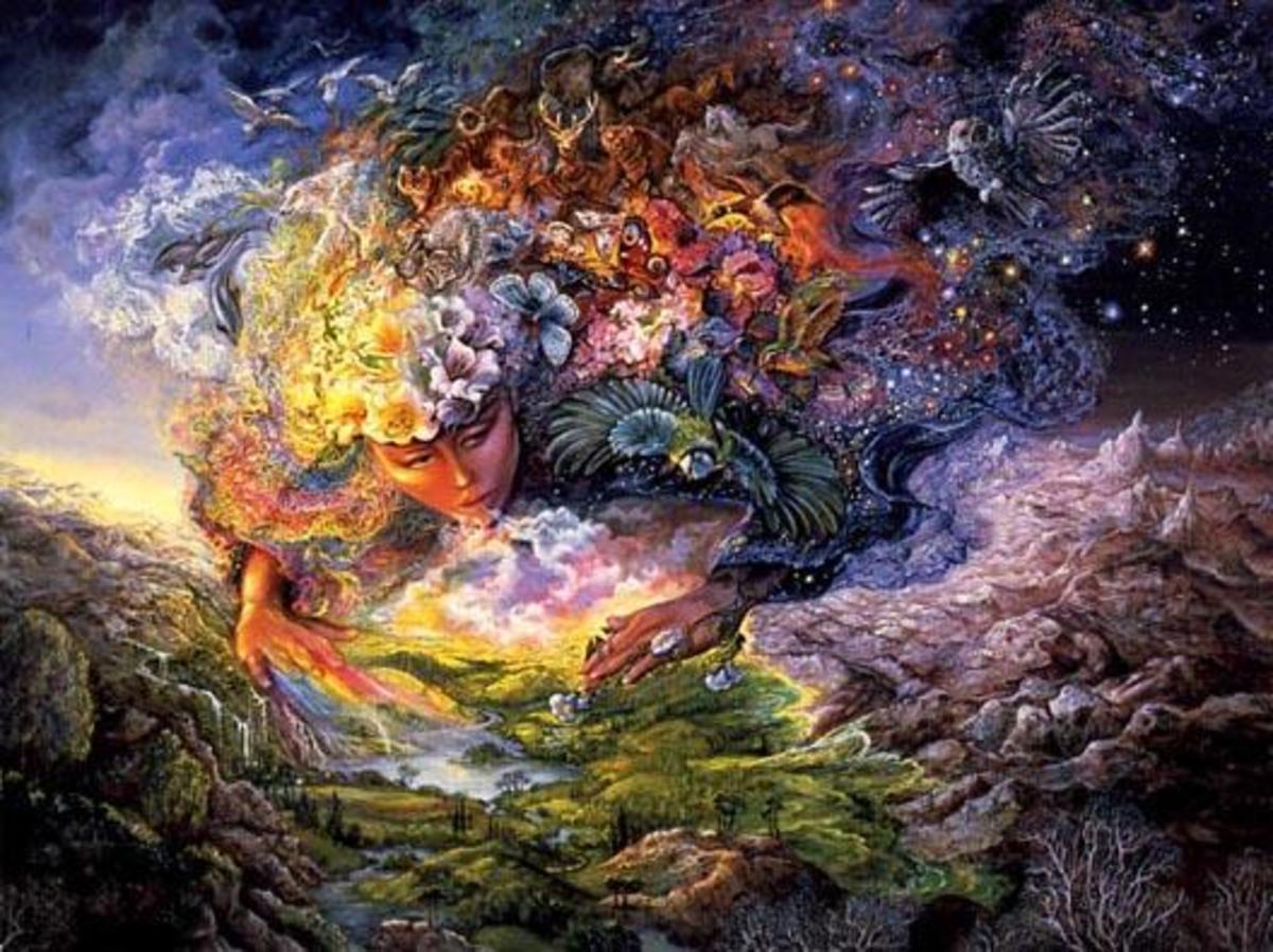 Greek myth: Gaea, aka Mother Earth, creating the world