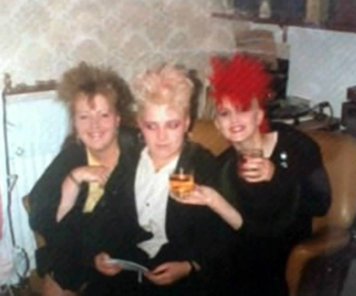 Pictured from left: Irene, Nicola and Amanda enjoying a glass of my dad's home brewed wine in our dining room