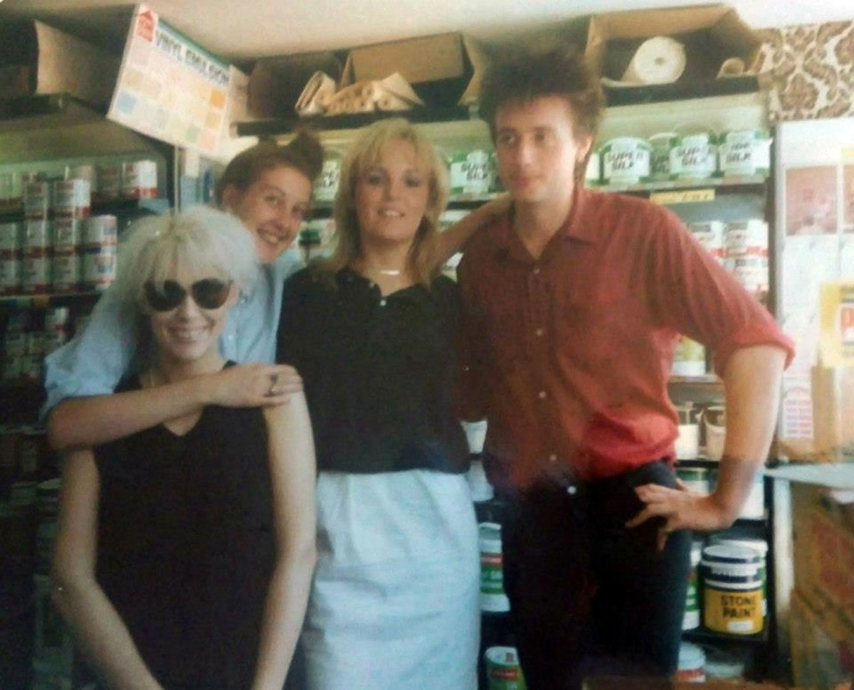 From left: Me, Marie, Nicki and David in Wheeler's paint store