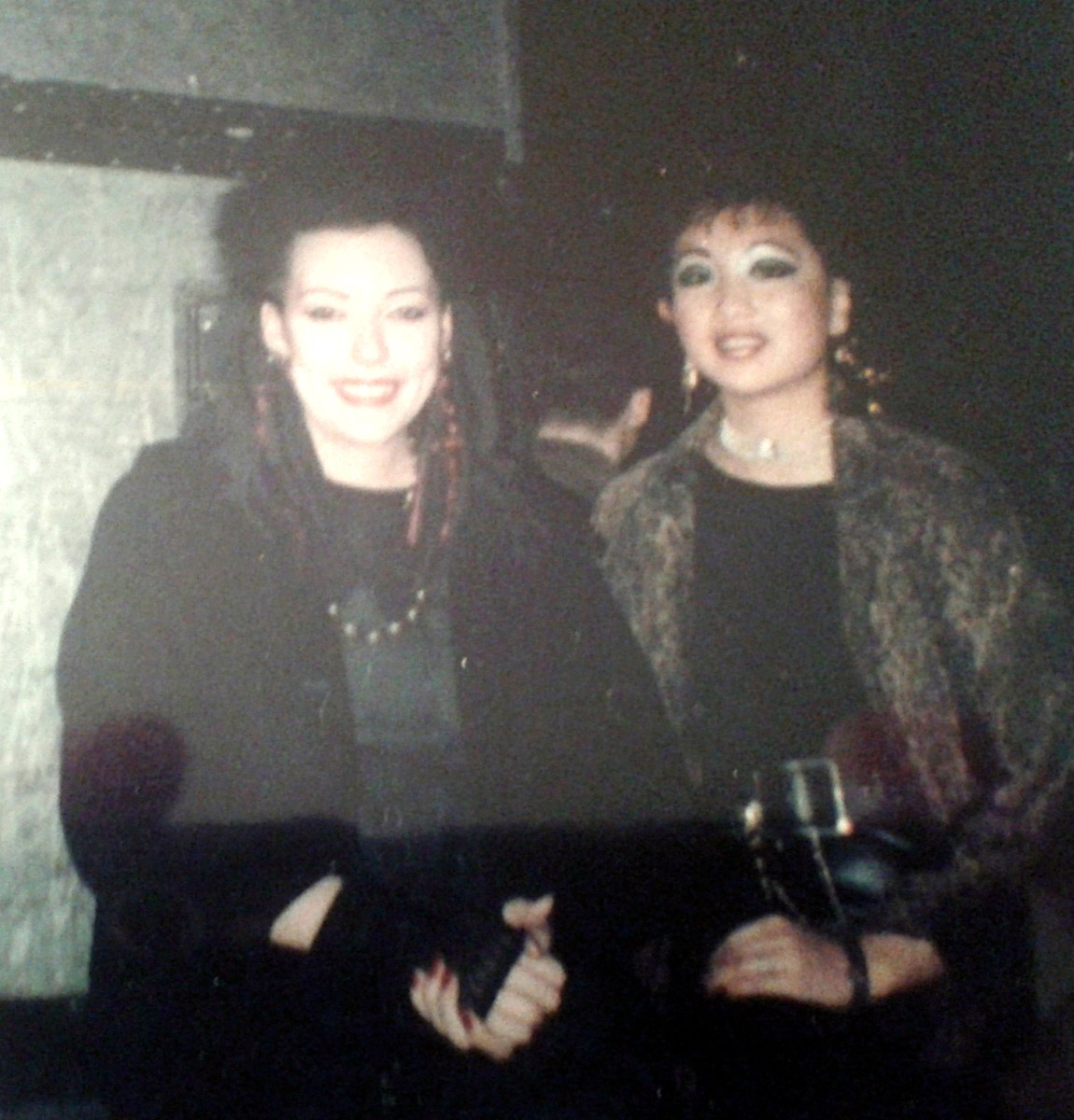 Me (on the left) with my friend Nila Myin in the mid-1980s.