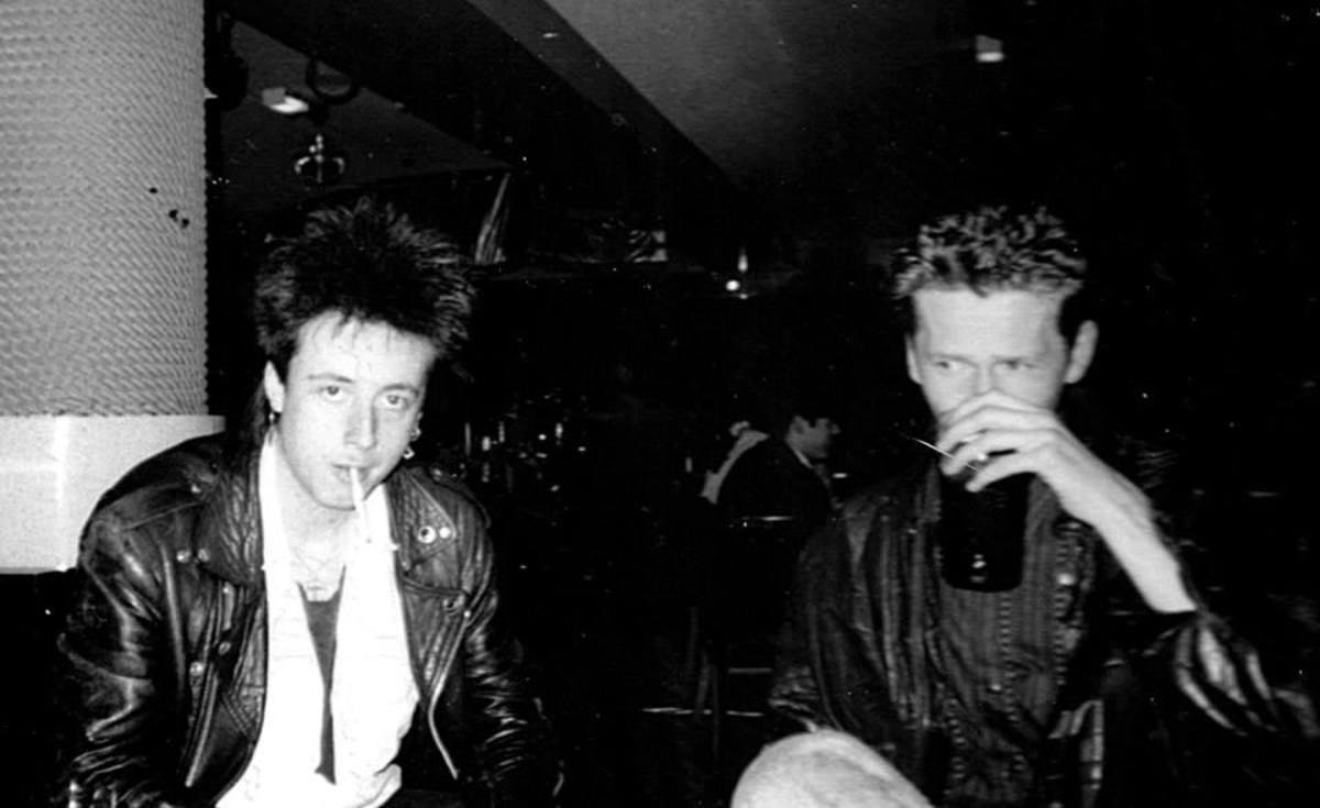 David and Steve in the Downtown Bar, 1989