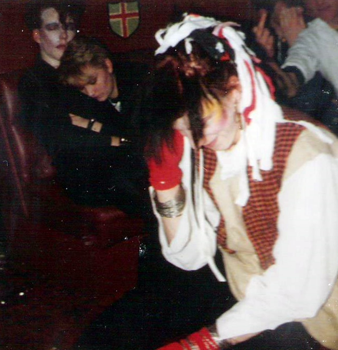 My friend Michael (Dowie) used to have black hair, with all sorts of ribbons and rags intertwined. He used to remind me of Pete Burns of Dead or Alive.