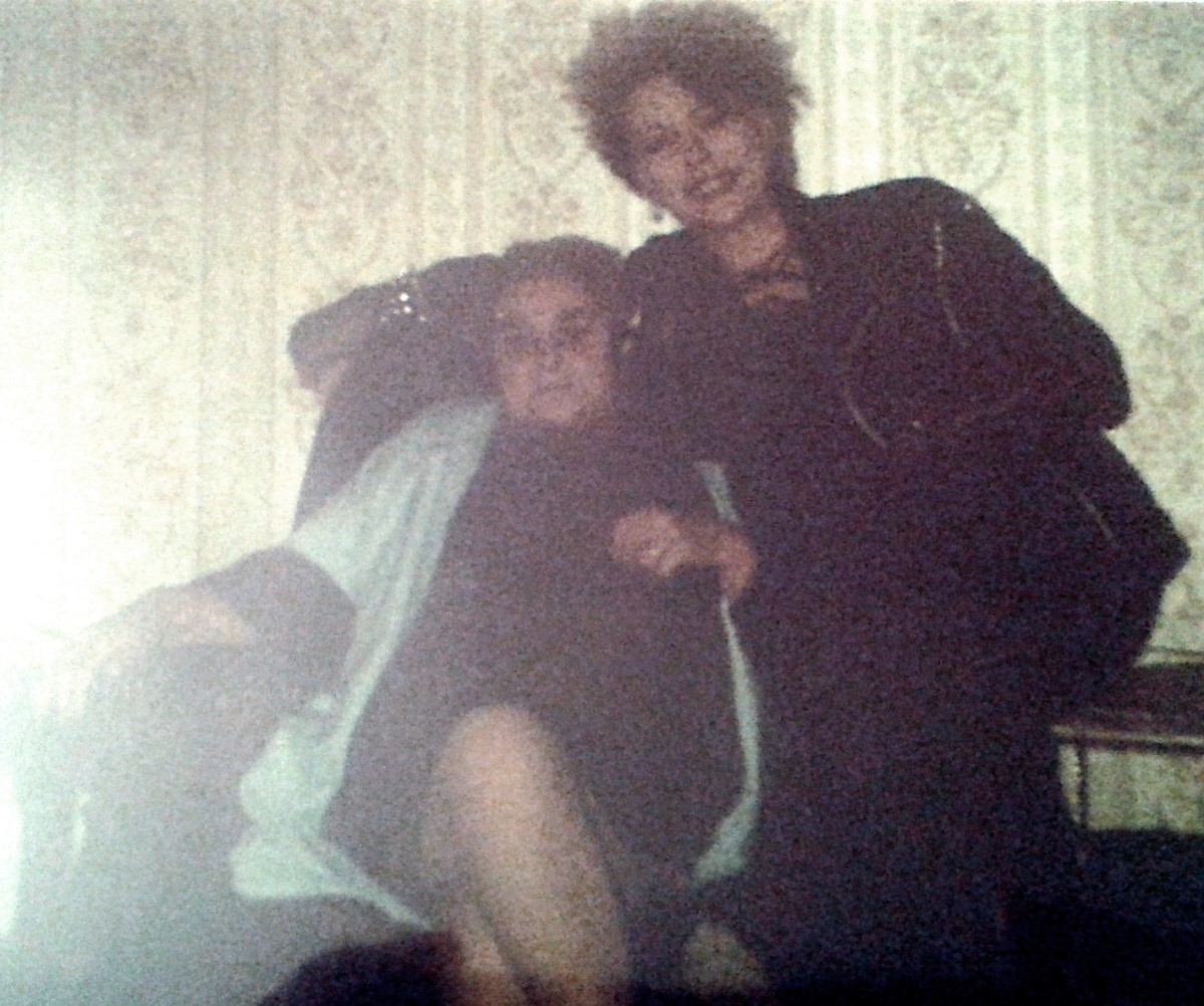Me with my grandma, Ivy Trigg, in the 1980s. She never really minded how I looked and welcomed my friends, with a huge variety of spiked and multi-coloured hair, to our house without batting an eye-lid.