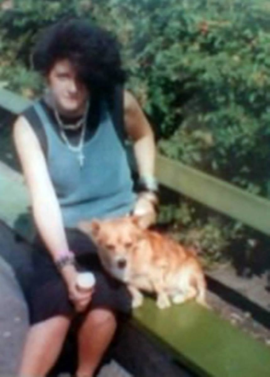 My friend Sally on a day out in Southport with my family and my dog Susie (who was having a 99 ice cream cone!) in the early 1980s