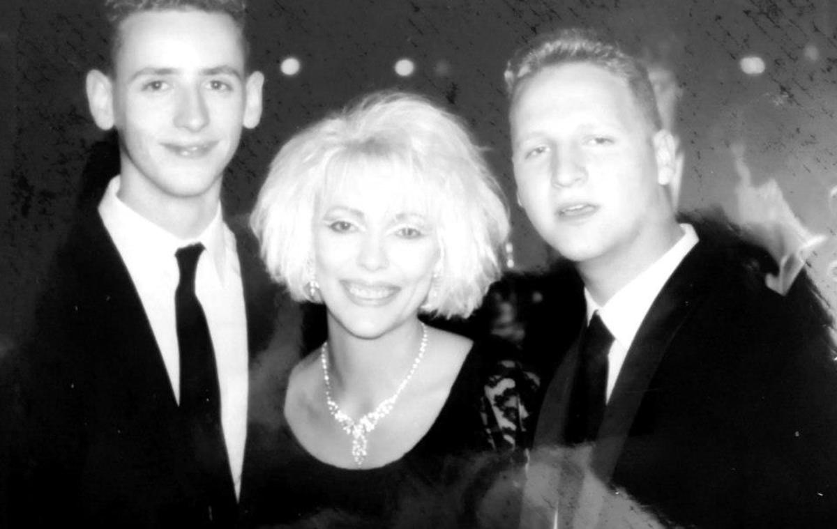 Me at the Christmas Tree Ball in 1988 with Andy (left) and Eamonn