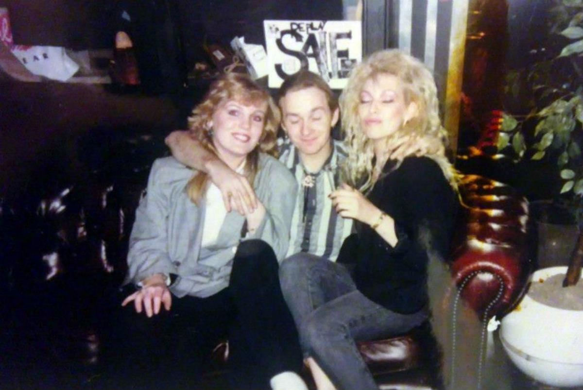 Me on the right at the Adam and Eve in 1988 with Nicky and Roger