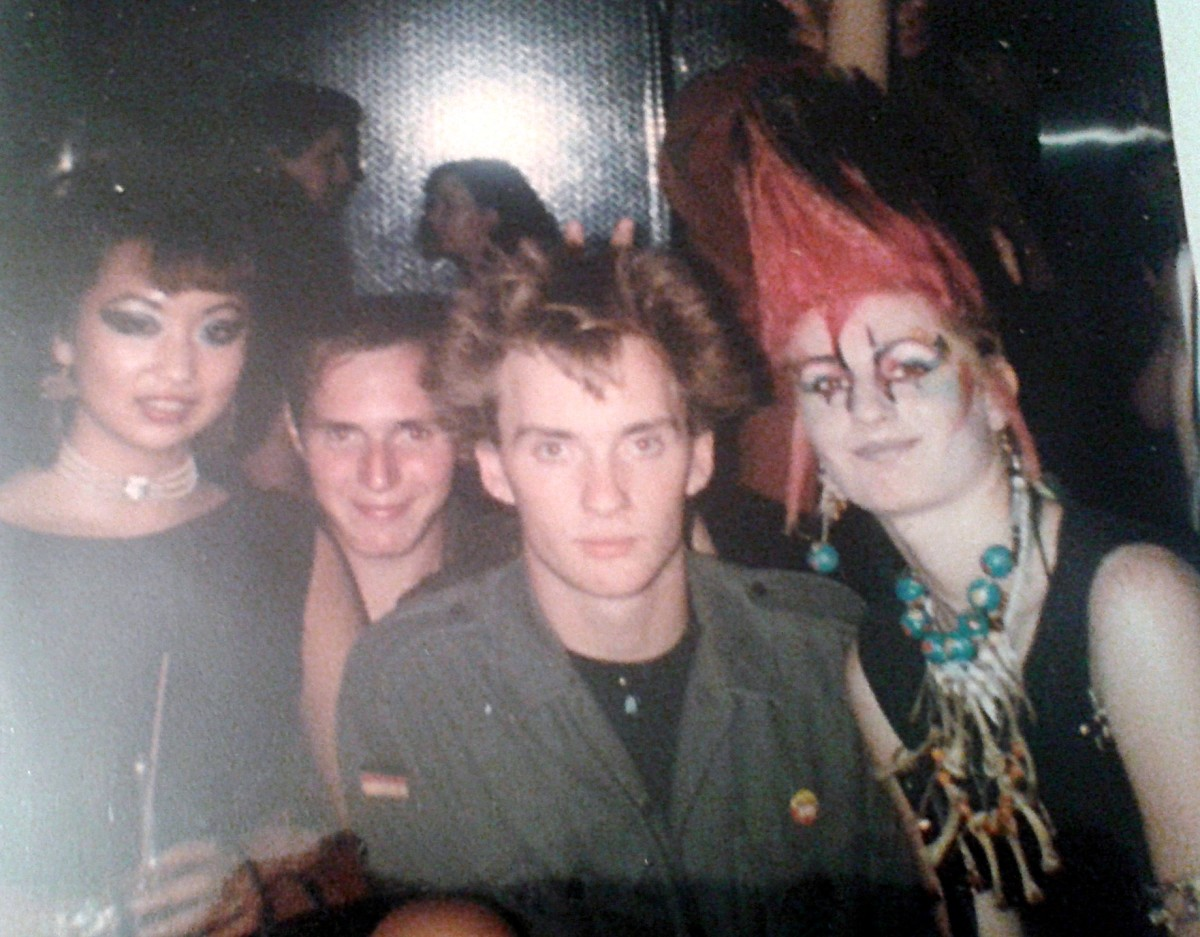Pictured, from left (at Legends in Manchester, I think) are Nila, Ian, Roger and Boz.