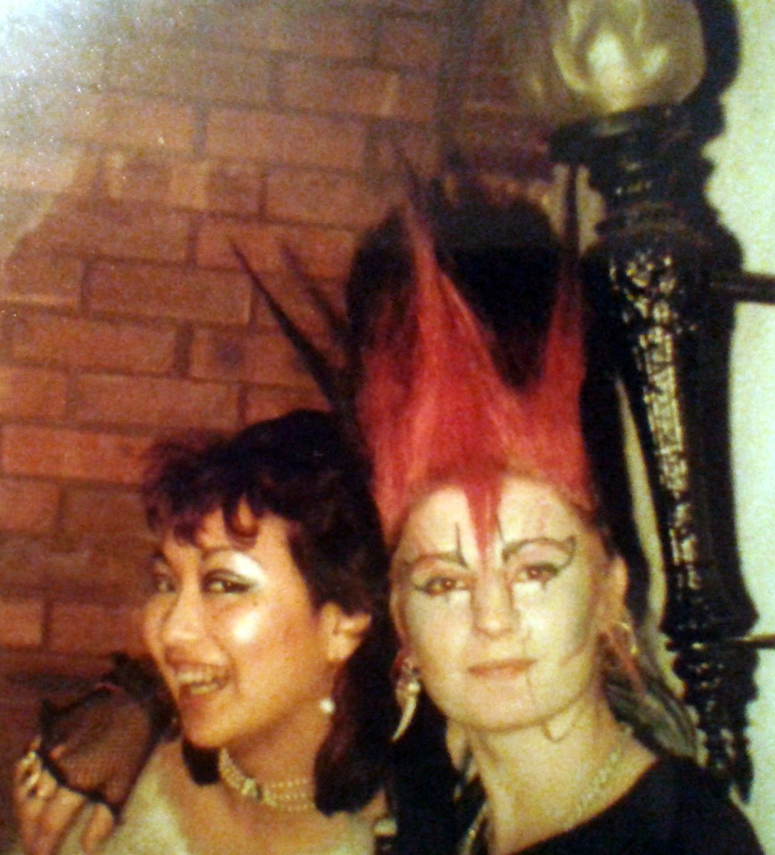 Nila and Boz in the Bierkeller, 1984