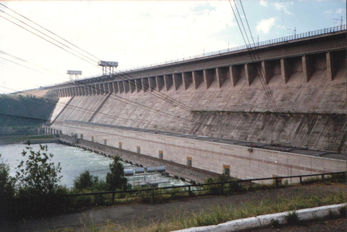 Hydroelectric Power Plant at Bratsk Dam in Siberia, Russia