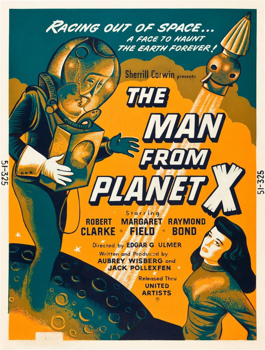 """The Man from Planet X"" (United Artists, 1951). Day-Glo Poster (30"" X 40"")"