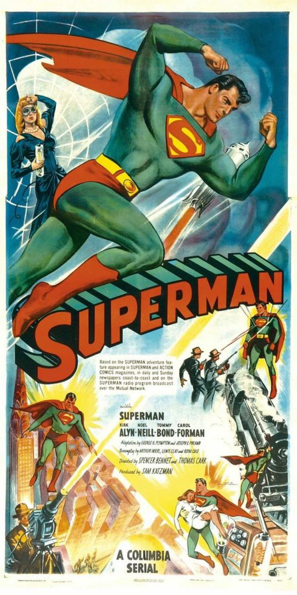 Superman Three Sheet Columbia Pictures Serial 1948  (41 x 81) Kirk Alyn