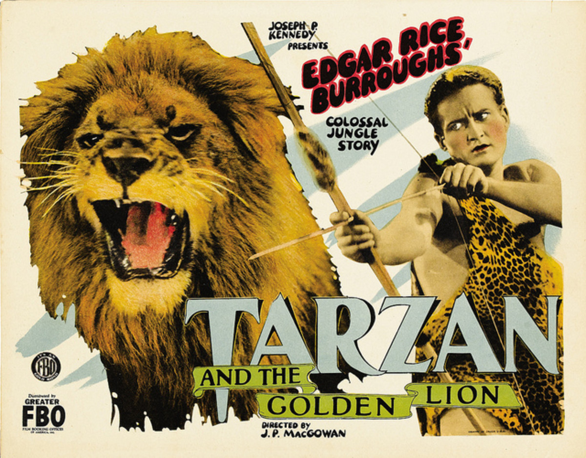 Tarzan Tarzan and the Golden Lion FBO Title Lobby Card 1927 11 x 14 James Pierce