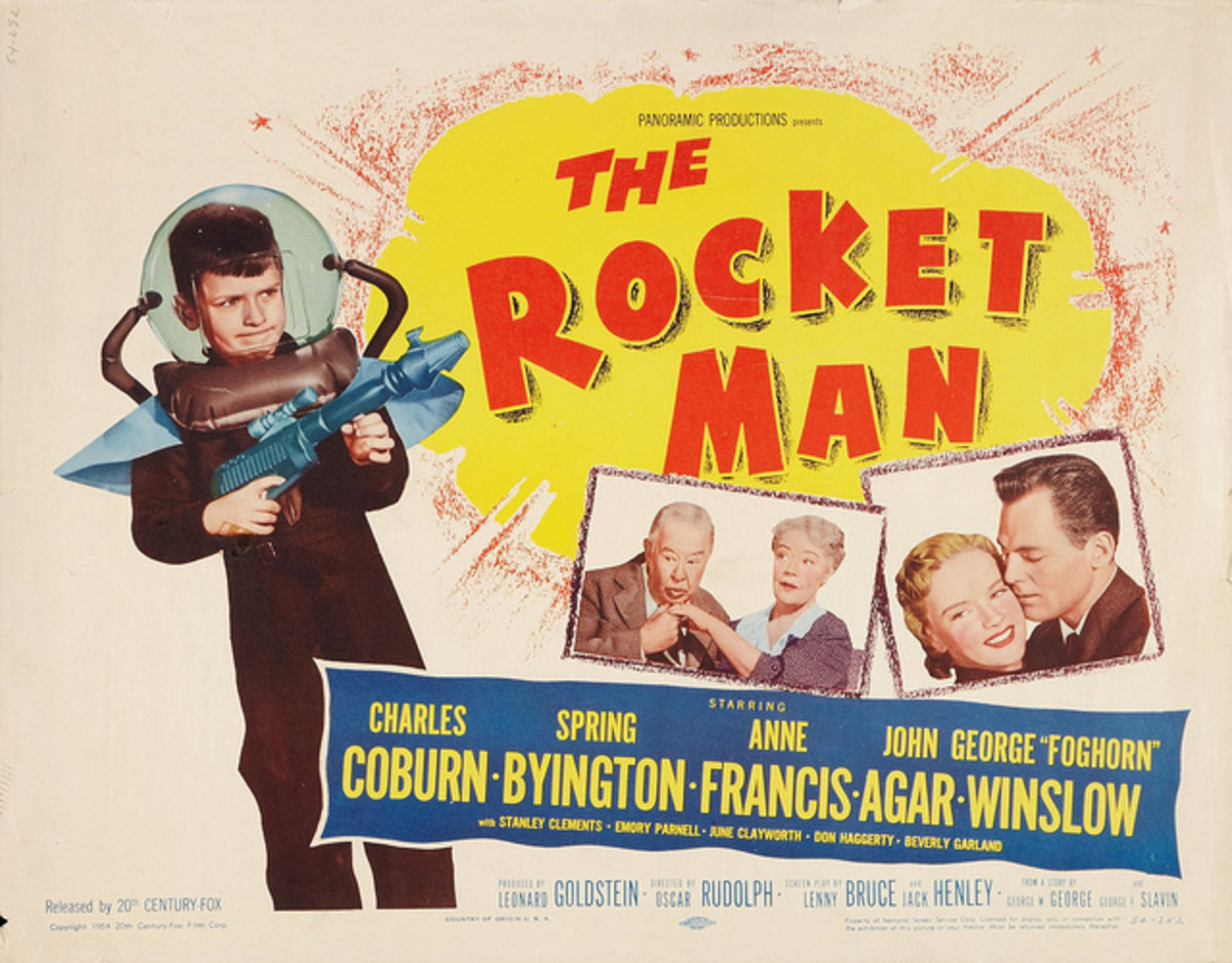 The Rocket Man 20th Century Fox Half Sheet  1954 22 X 28  Directed by Oscar Rudolph with a screenplay by Lenny Bruce