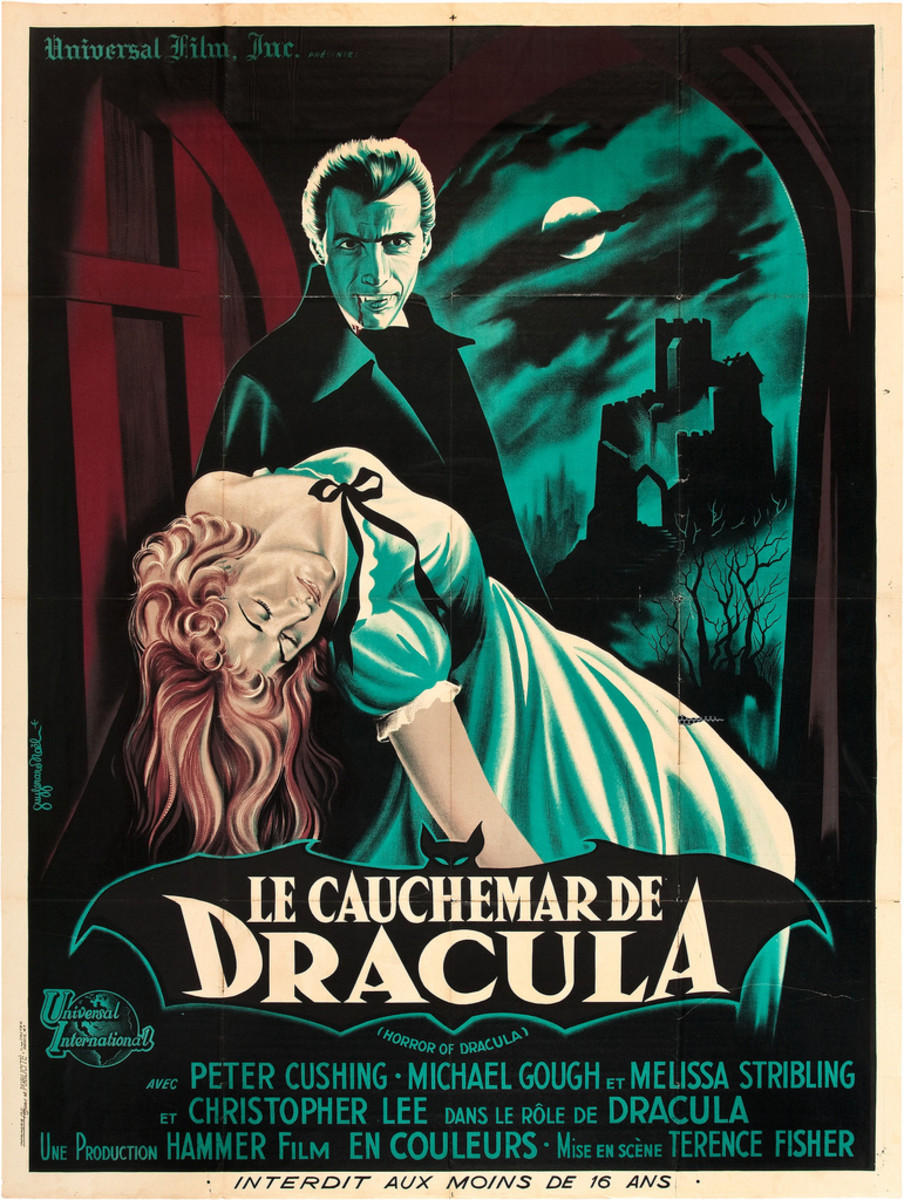 Horror of Dracula Universal International 1958 French Grande 47 X 63 Peter Cushing Christopher Lee