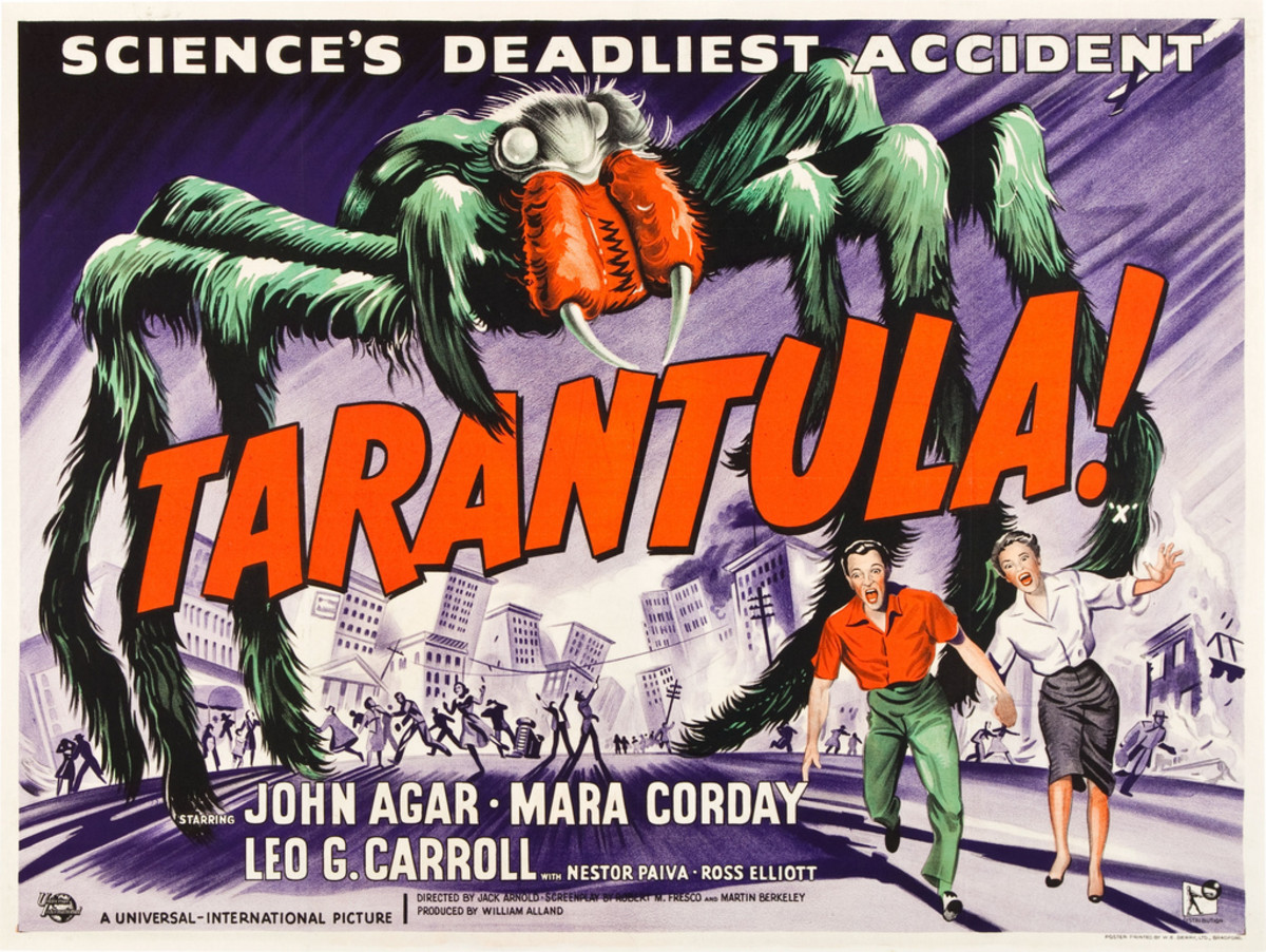 "Tarantula (Universal International, 1955). British Quad (30"" X 40"") John Agar, Mara Corday"