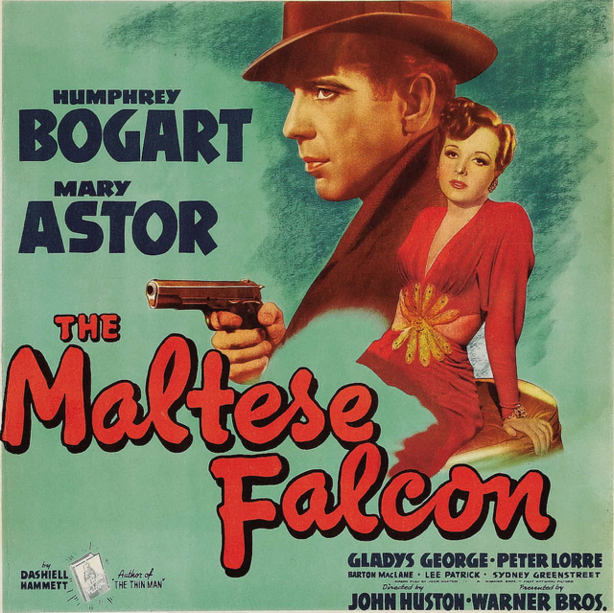 "The Maltese Falcon Warner Brothers Six Sheet  (1941) 14"" X 22""  Humphrey Bogart, Mary Astor"