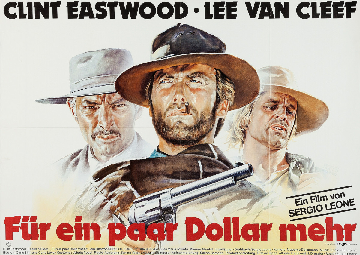 """For a Few Dollars More"" (United Artists, R-1978) German A0 (33"" X 46"") Clint Eastwood, Lee Van Cleef"
