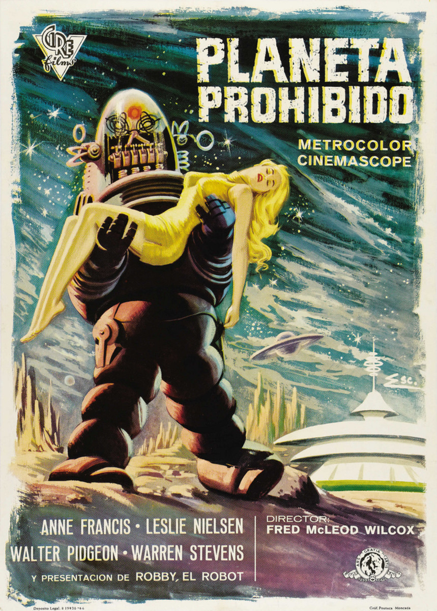 "Forbidden Planet (Loews - MGM, 1966) Spanish One Sheet (28"" X 39"")."