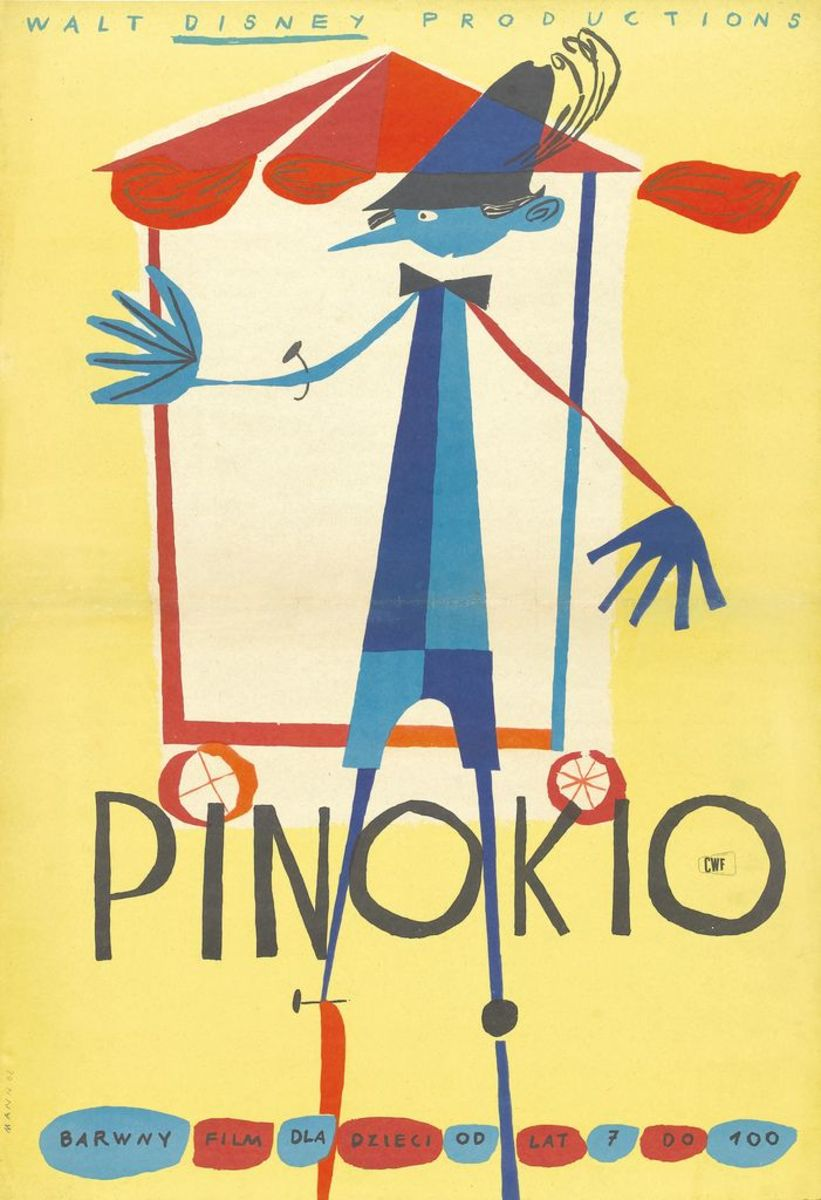 Pinocchio Walt Disney Productions R-1962 Polish One Sheet Poster