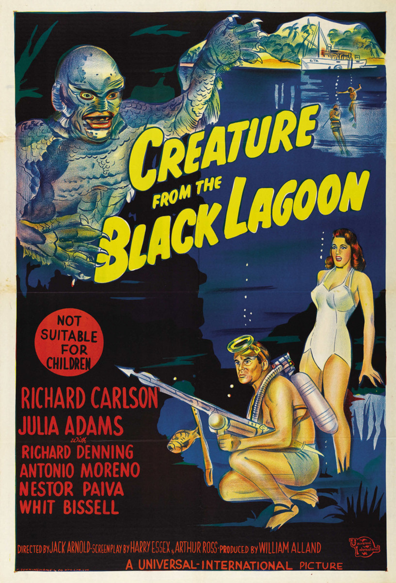 "Creature From the Black Lagoon (Universal International, 1954). Australian One Sheet (27"" X 40"")."