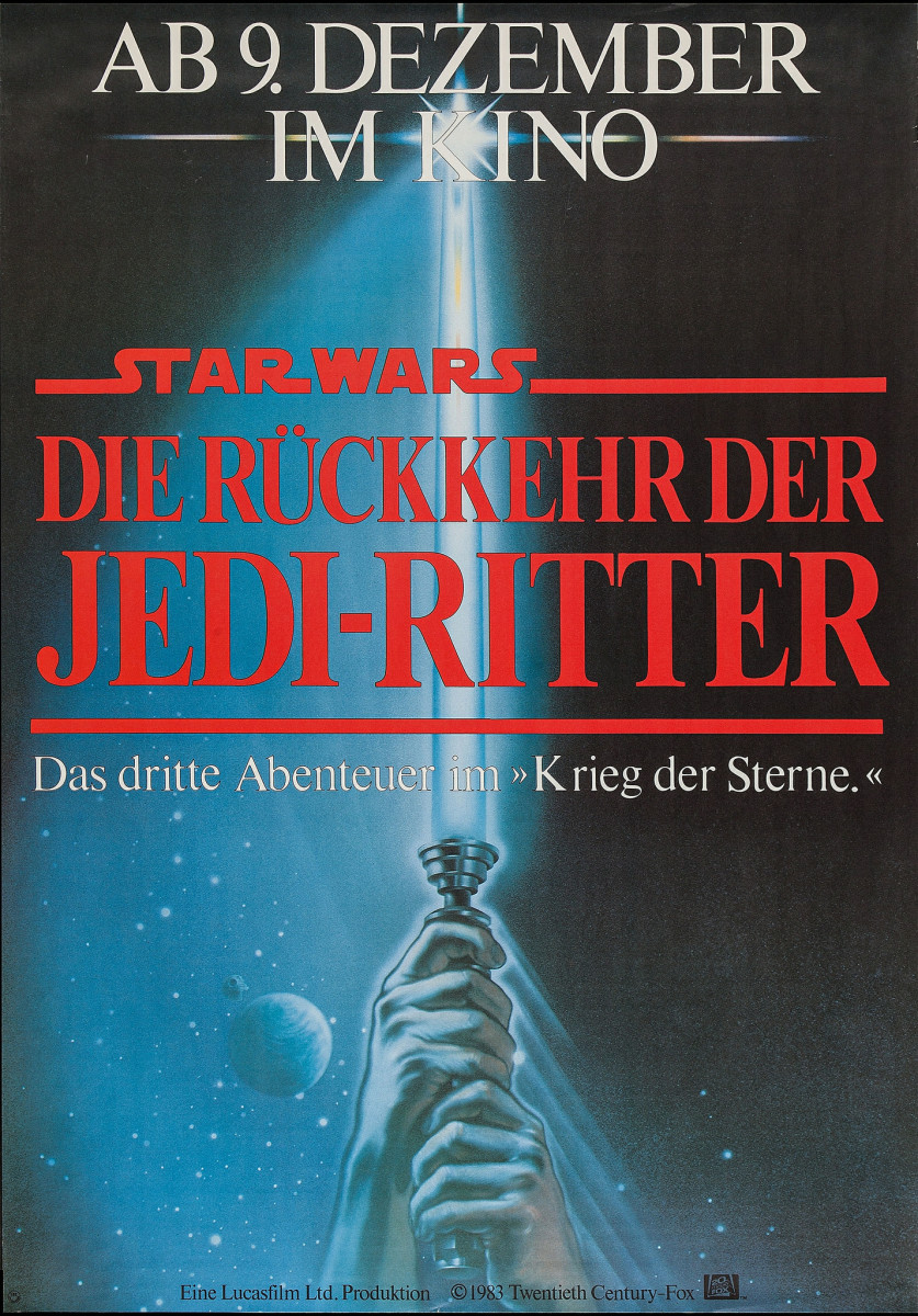 Star Wars Return of the Jedi 20th Century Fox 1983 German A0 33 X 46 Mark Hamill Carrie Fisher Harrison Ford
