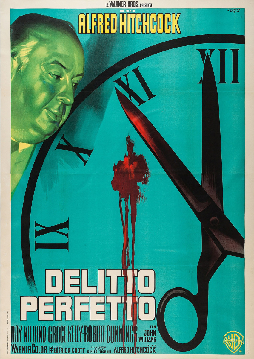 "Dial M for Murder (Warner Brothers, R-1960) Italian 4 - Foglio (54.75"" X 77"") -- Alfred Hitchcock, Grace Kelly, Ray Milland"