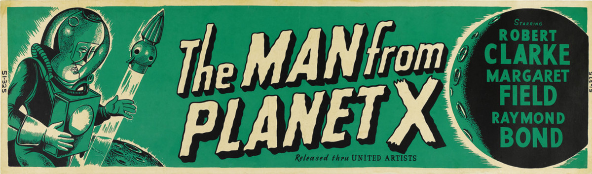 The Man from Planet X United Artists 1951 Banner 24 X 82 Robert Clarke Margaret Field Raymond Bond