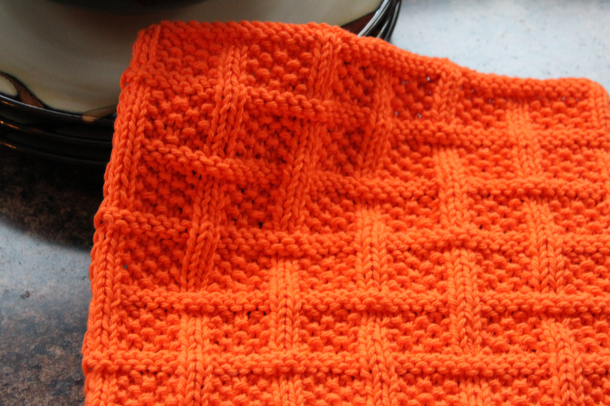 Knitting Dishcloths Featuring Free Patterns | HubPages