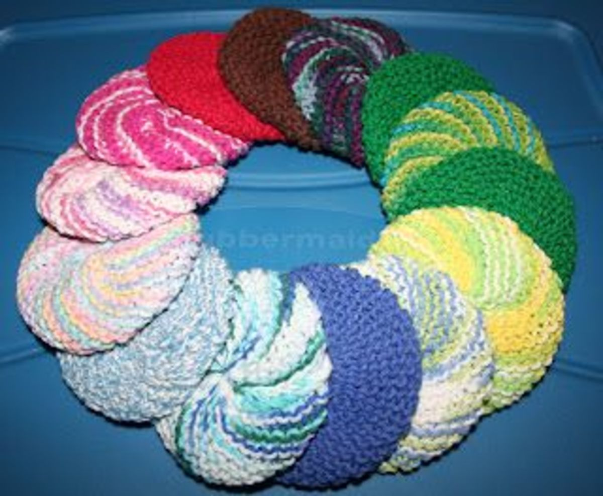 Knitted Scrubbies Free Pattern : Knitting Dishcloths Featuring Free Patterns