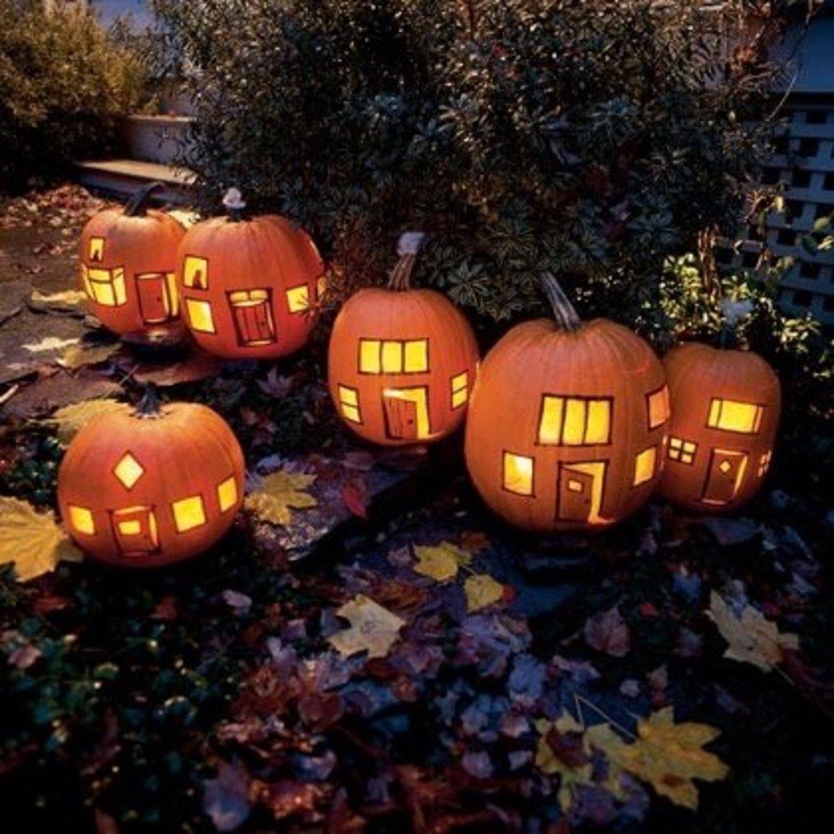 DIY Pumpkins Village Pumpkins