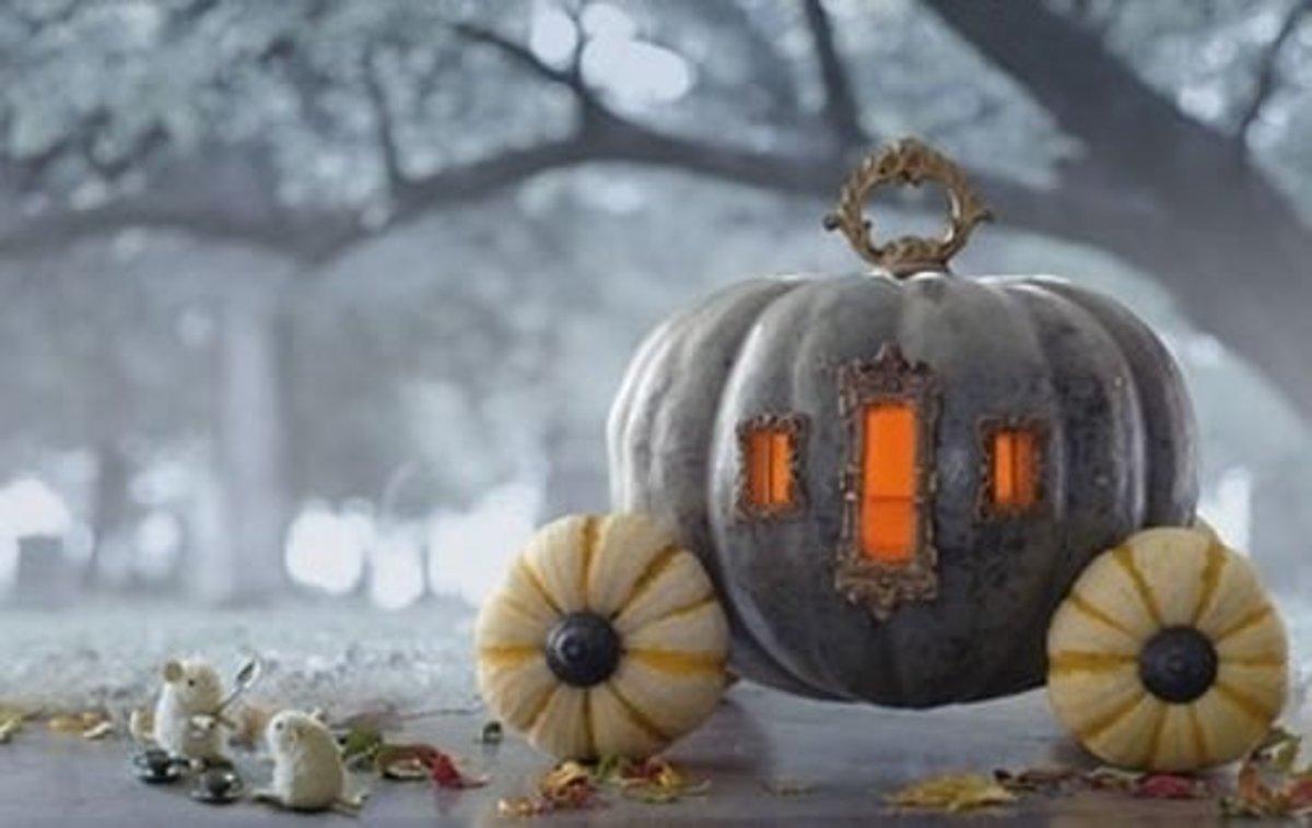 DIY Pumpkin Decorating Ideas Carriage Pumpkins
