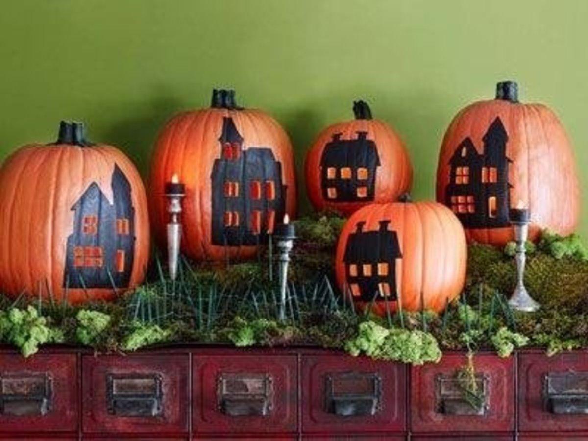 DIY Easy Decorating Ideas Village Pumpkins