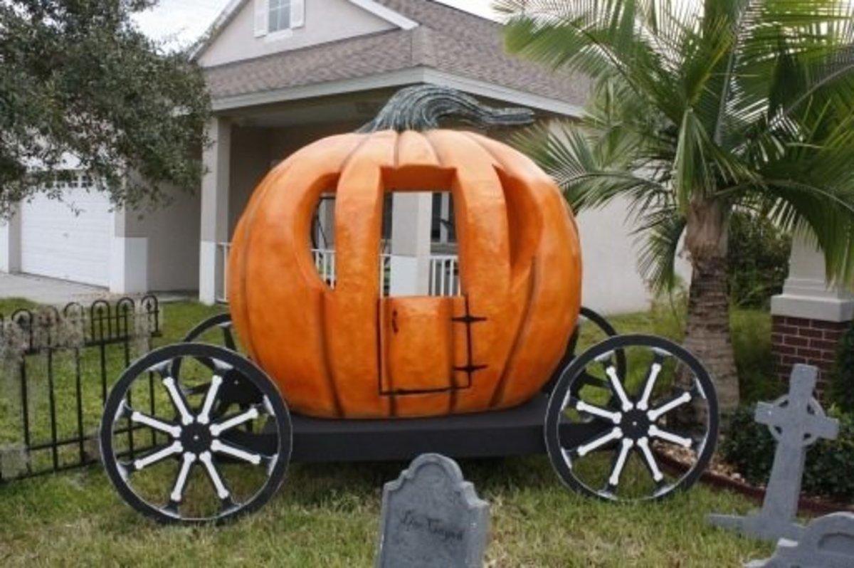 DIY Pumpkin Decorating Ideas Large Carriage