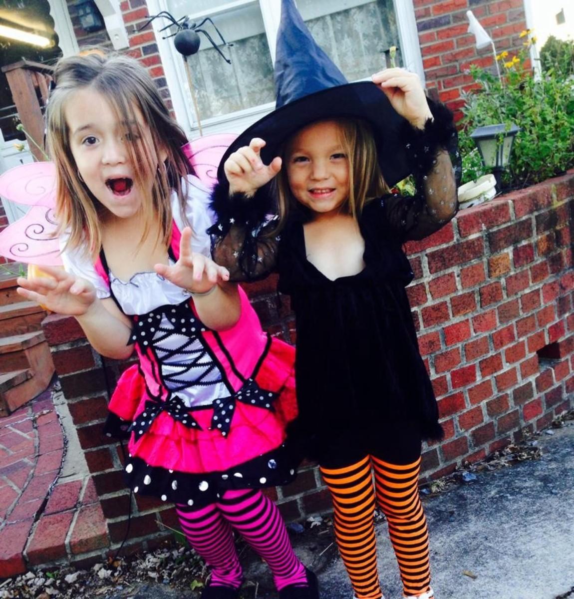 "My ""scary"" girls on Halloween!"