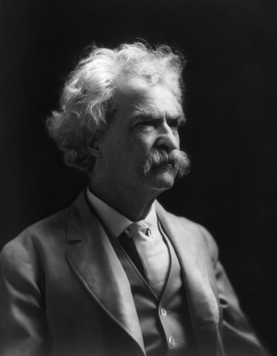 Mark Twain, Photograph by A.F. Bradley