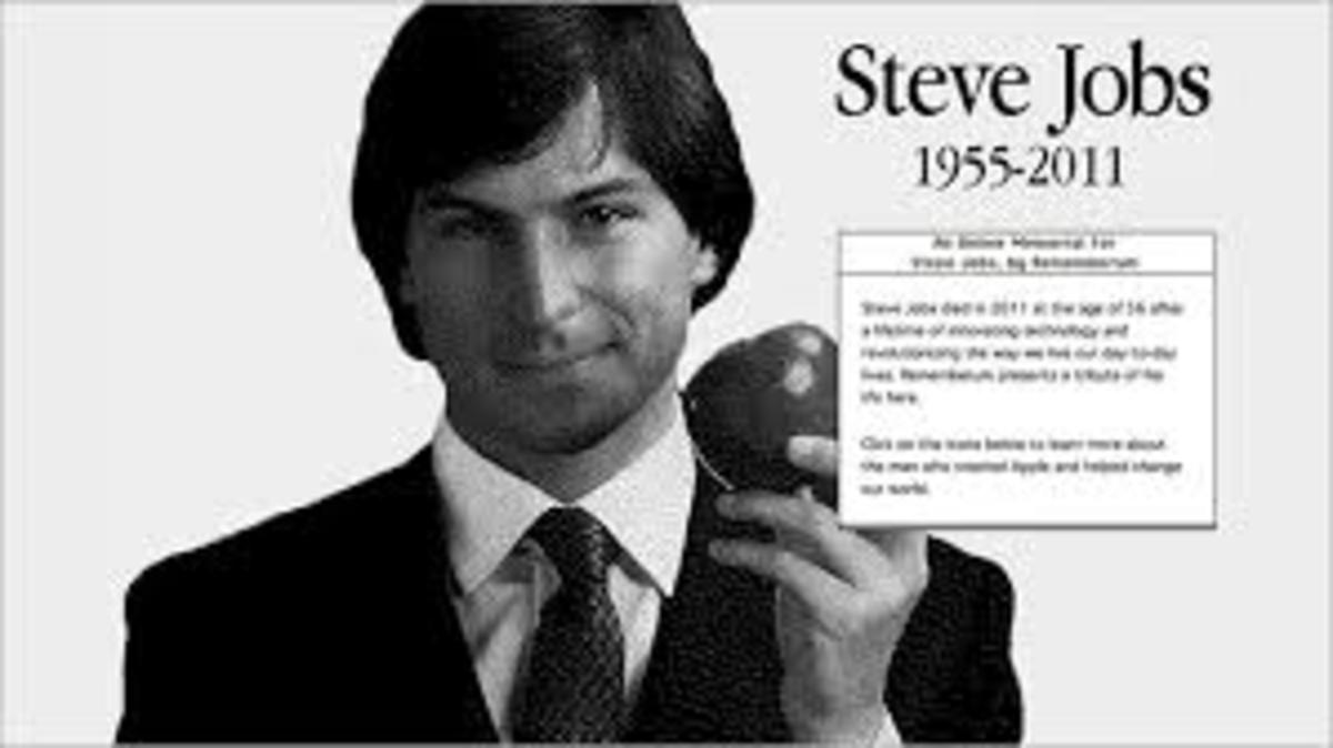 Picture of Steve Jobs when he was younger.