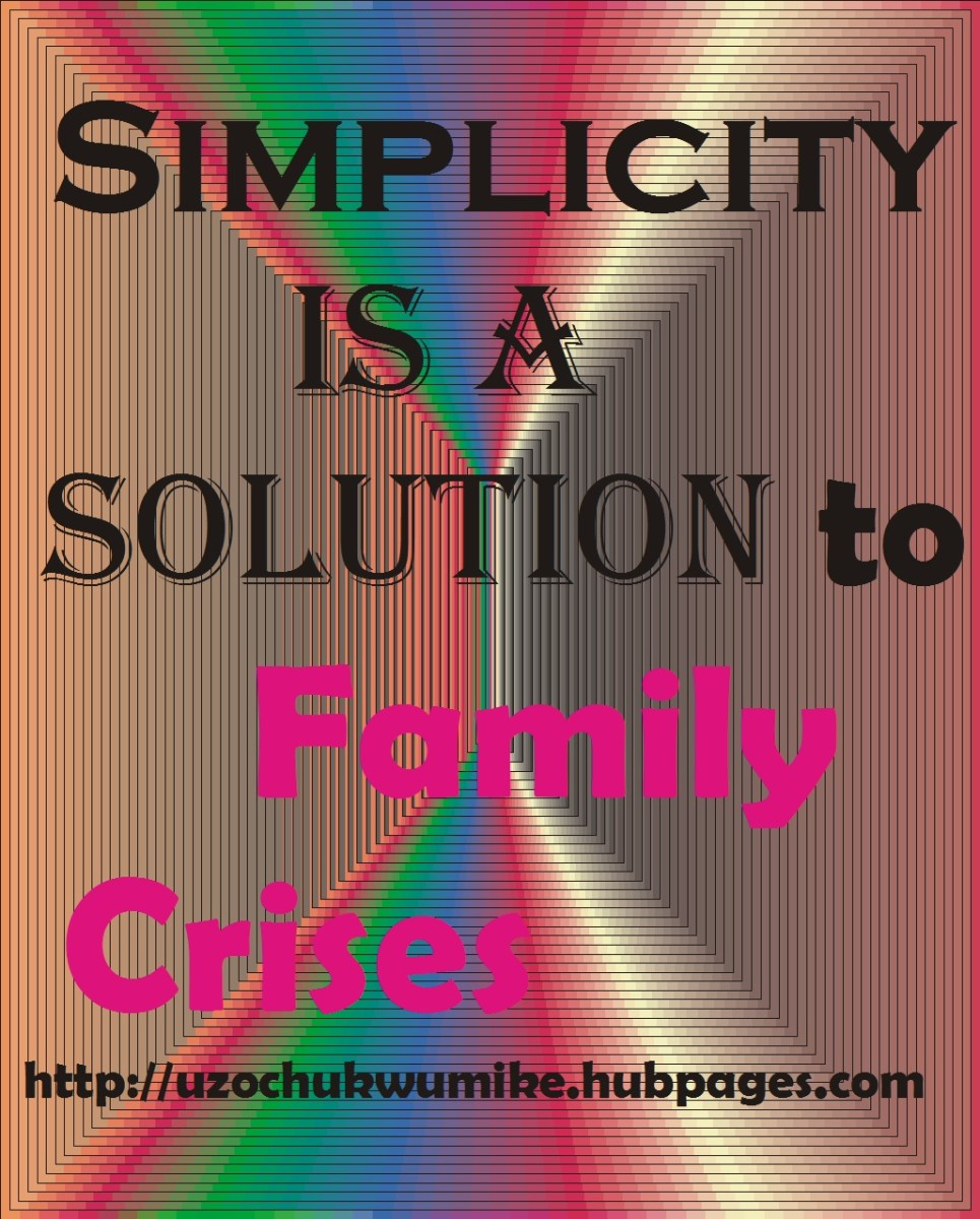 Simplicity as a solution to family crises