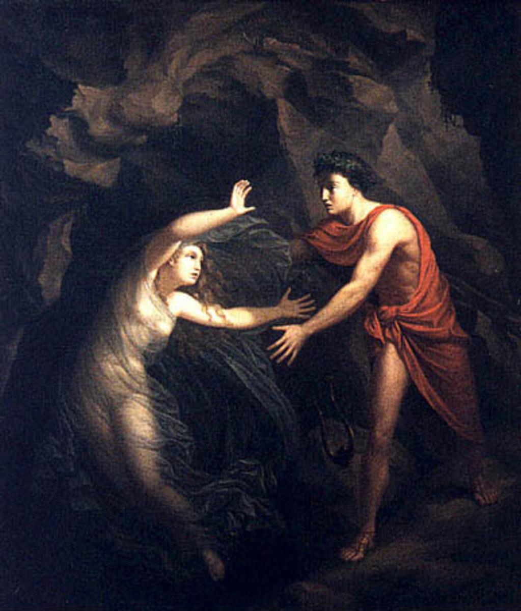Orpheus and Eurydice by Christian Gottlieb Kratzenstein.