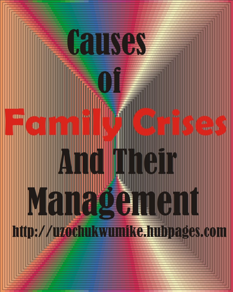 Illustration on Family crises and its management