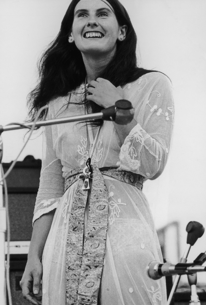 Rose Simpson of the Incredible String Band at Woodstock
