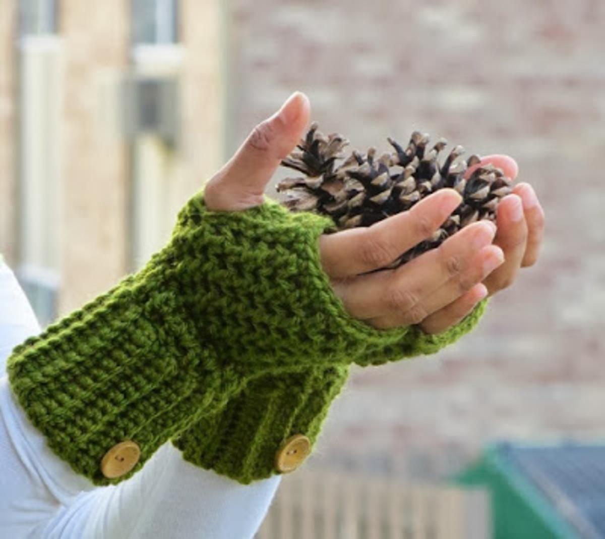 Crochet Brooklyn Fingerless Mitts