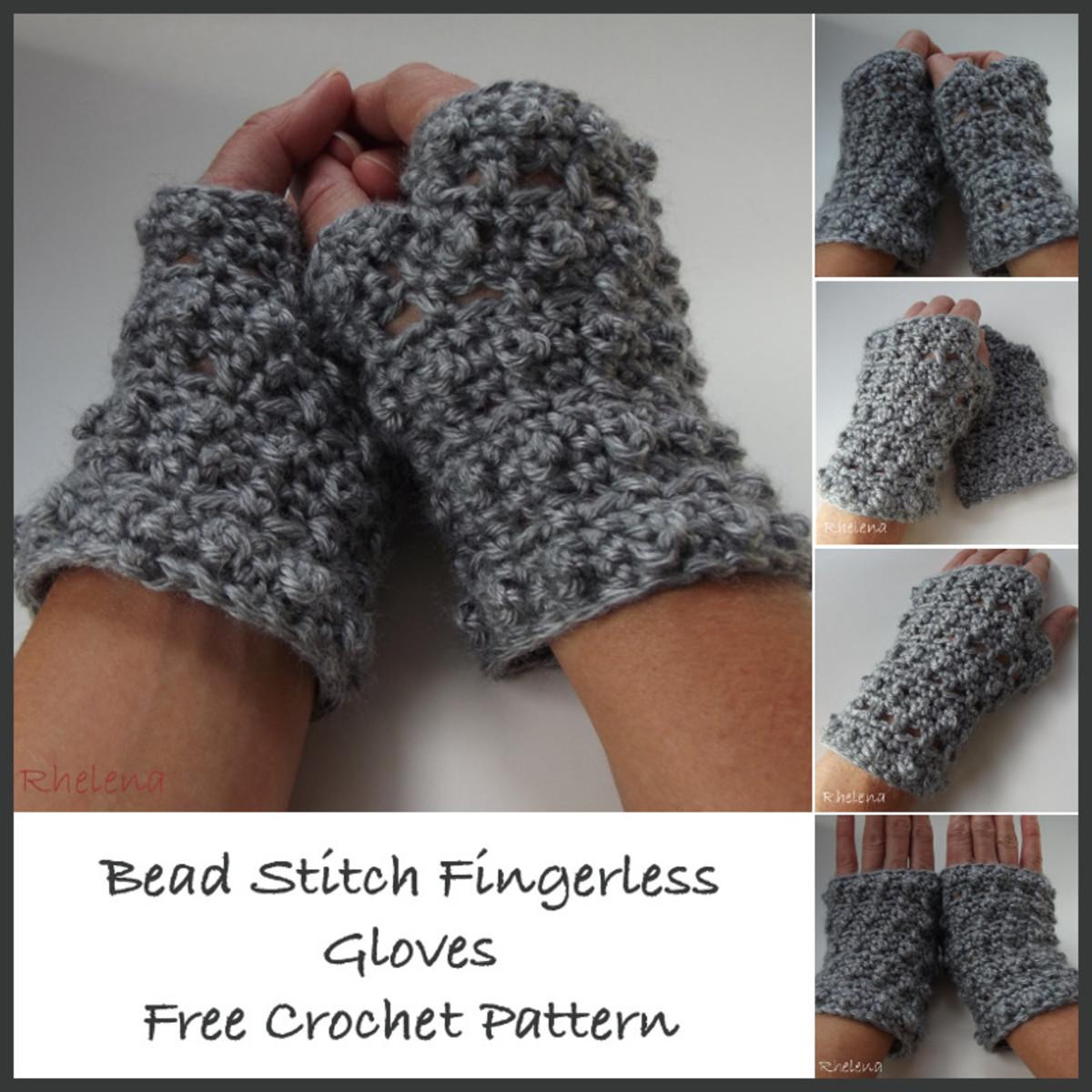 Bead Stitch Fingerless Gloves