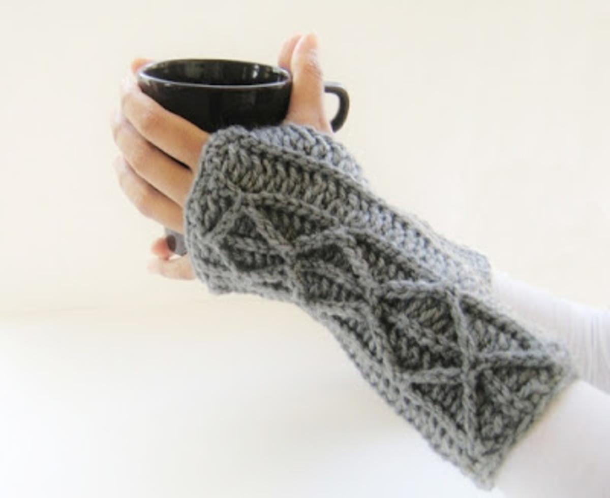 Crochet Adeline Fingerless Mitts